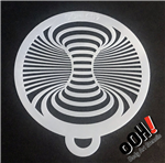 Optical Illusion Swirl ooh!  Flip Face Paint Stencil for face painting and airbrush tattoos