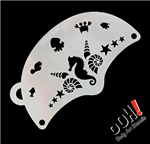 Seahorse Mask ohh!  Flip Face Paint Stencil for face painting and airbrush tattoos