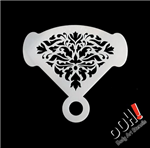 Damask Mirror Ooh! Face Painting Stencil for face painting and airbrush tattoos