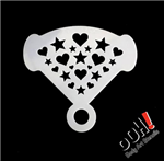 Hearts & Stars Mirror Ooh! Face Painting Stencil for face painting and airbrush tattoos
