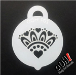 Cluster of hearts petite ooh! Face Paint Stencil for face painting and airbrush tattoos