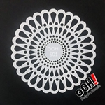 Doily Sphere Face Paint Stencil for face painting and airbrush tattoos