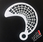 Spiderweb Wrap Face Paint Stencil for face painting and airbrush tattoos