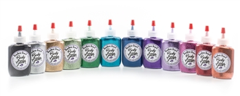 glitter tattoo metallic glitter: 12 color poof bottles