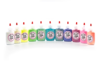 glitter tattoo cosmetic glitter: 12 color poof bottles
