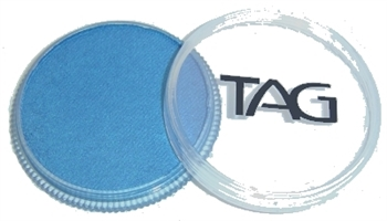 tag blue shimmer face paint