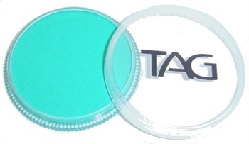 Tag Teal shimmer face paint