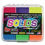 Highly Pigmented ProAiir Solids Neon Primary Color Water Resistant Makeup Palette