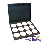 pro laptop case for 12 round cakes with lids: solid black