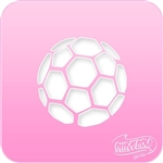 Soccer Ball Pink Power Face Painting Stencil