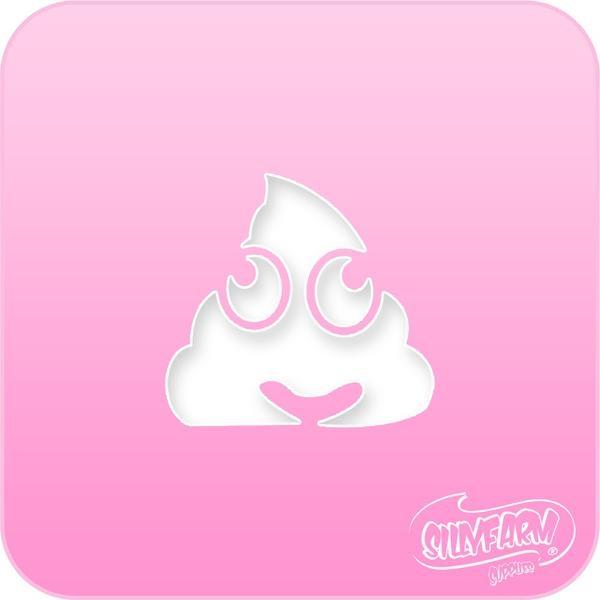 Poop Emoji Pink Power Face Painting Stencil