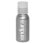 1oz Metallic Silver Endura Ink for Airbrush