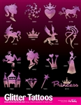 Glitter Tattoo Stencil Kit,  shimmer tattoos, henna Tattoos, Airbrush tattoo Stencil Kit