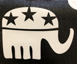 Political Elephant Adhesive Stencil for Face & Body Art