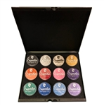 Superstar shimmer pallet holds twelve 45gr jars of select paint colors.