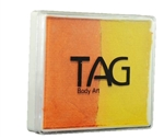 Tag  Pearl Orange & Pearl Yellow 2 color split cake