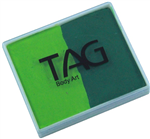 Tag   Light Green / Mid Green 2 color split cake