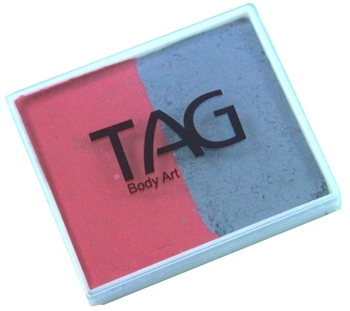 Tag soft grey and rose pink and red 2 color split cake