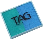 Tag pearl teal and pearl sky blue split cake