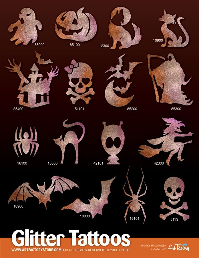 Halloween Spooky.Spooky Halloween Collection 80 Stencils Display