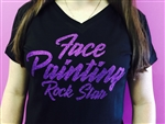 Face Painting Rock Star  Tshirts, glittery shirts, shimmer