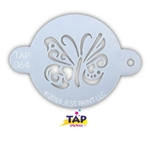 Ornate Butterfly TAP Face Painting Stencil