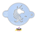 Pretty Unicorn Centerpiece TAP Face Painting Stencil