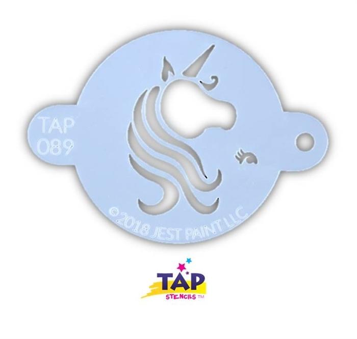 TAP 89 Face Painting Stencil - Pretty Unicorn Centerpiece