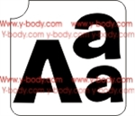 Capital and lower case letter A Adhesive Stencil for Face & Body Art