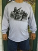 Long Sleeve Cruzin Mann Shirt with Logo Face on Back