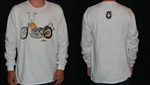 Long Sleeve 60's Chopper Shirt Signed with Logo Face on Back - Small