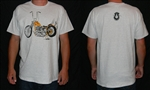 Short Sleeve 60's Chopper Shirt Signed with Logo Face on Back - Small