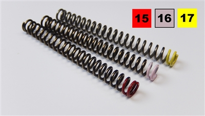 1911 hammer spring kit for custom trigger job.  Color coded for easy identification of individual spring weights