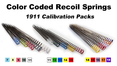 color coded recoil springs for 1911 and 2011 trigger job