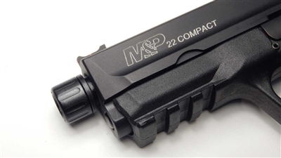 S&W M&P Compact | M&P thread adapter | M&P22 1/2x28 Thread Adapter with Fluted Thread Protector | 22lrupgrades | M&P Compact | suppressed | suppressor host | the best