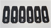 Magpul P-Mag Magazine Grip Tape Decals Numbered 0-11