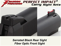 Fiber front sight | GSG sight set | SIg 1911 Sight Set | 1911-22 pistol | fiber optic | sight set | gsgparts | 22lrupgrades