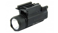 180 lumen cree led rail mounted flashlight weapon light tactical low cost bright defensive rifle pistol