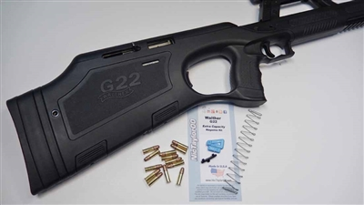 Walther G22 | Walther G-22 | High Capacity | 22lrupgrades | high capacity magazine | magazine upgrade | magazine kit | 22lr magazine | shockbottle | nictaylor00 | high capacity magazine parts kit | magazine parts | replacement parts | magazine extension