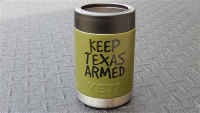 window decal of Keep Austin Weird advertising slogan | Keep Austin Weird | Keep Austin Armed | Keep Texas Armed