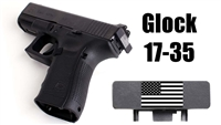 American Flag Laser Engraved TacRack Back Plate for all Glock Pistols, All Caliber and All Sizes except G42 and G43