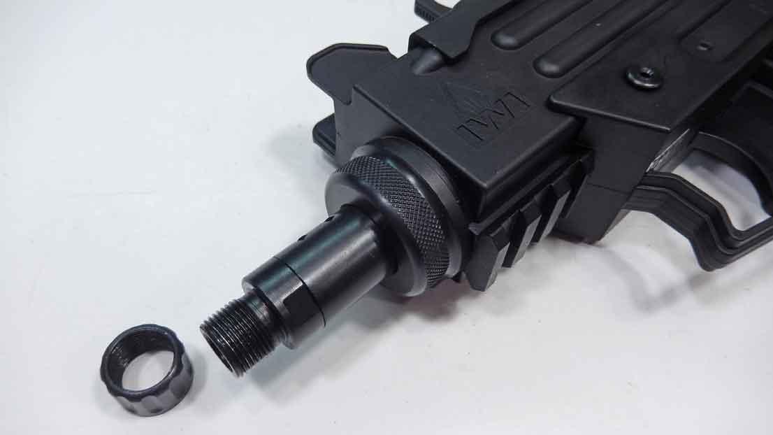 Walther IWI UZI 22LR 1/2x28 Thread Adapter with Thread Protector