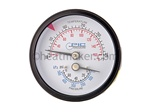 2400-114  H-HWM2 series Gauge, Pressure/Temperature, Back Mount