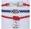 Red, white and blue CUBS cord bracelet