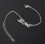 Silver bracelet with LOVE charm