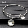 April birthstone charm bracelet