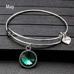 May birthstone charm bracelet