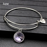 June birthstone charm bracelet