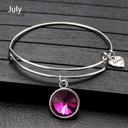 July birthstone charm bracelet