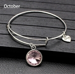 October birthstone charm bracelet